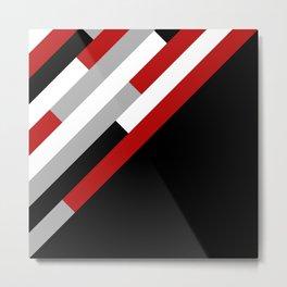 Diagonal stripes pattern Metal Print