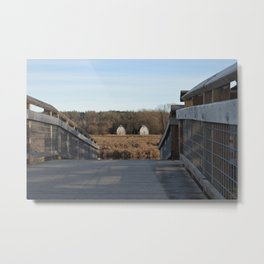 Twin Barns Metal Print