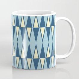 Mid Century Modern Diamond Pattern Blue 232 Coffee Mug