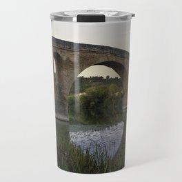 Medieval Bridge - Puente la Reina, Camino to Santiago de Compostela Travel Mug