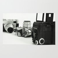 cameras Area & Throw Rugs featuring cameras by Falko Follert Art-FF77