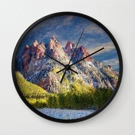 First Snow Maroon Bells Wall Clock