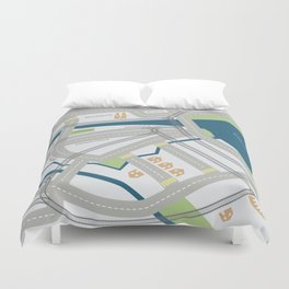 The Streets of Zurich Duvet Cover