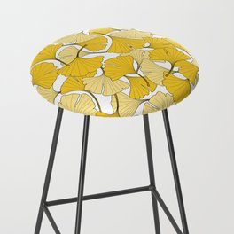 ginkgo leaves (yellow) Bar Stool