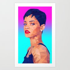 Rihanna LowPoly/ High Poly: Artists Collection Art Print