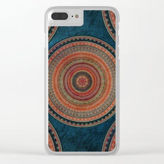 Earth Tone Colored Mandala Clear iPhone Case