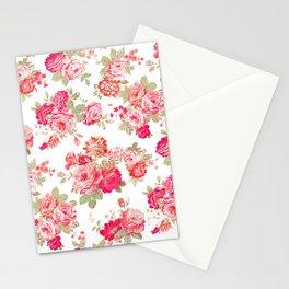 Elise shabby chic on white Stationery Cards