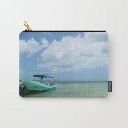 Blue Boat, Blue Skies Carry-All Pouch