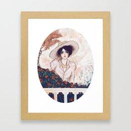 Gina in the garden Framed Art Print