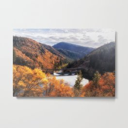 Lake Britton into the Pit River in the Fall Metal Print