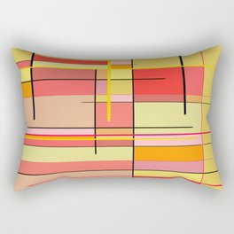 color and lines Rectangular Pillow