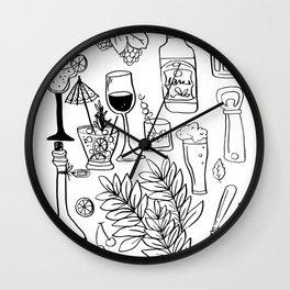 Alcohol Doodles Wall Clock