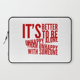 Unhappy And Lonely Laptop Sleeve