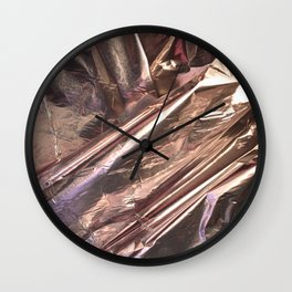 Rose Gold Foil Wall Clock