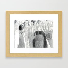 Hand Hearts Framed Art Print