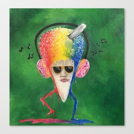 Snow cone funk Canvas Print