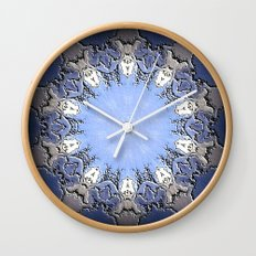 Polished Stone Metal Element Mandala Wall Clock