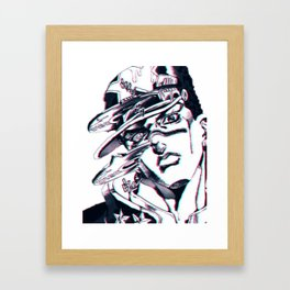 Jotaro Kujo from Jojo's bizarre adventure affected by Whitesnake Framed Art Print