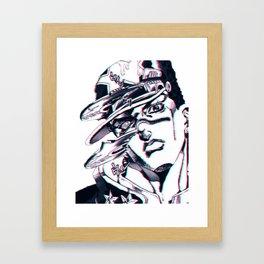 Jotaro Kujo from Jojo's bizarre adventure affected by Whitesnake Framed Art Print
