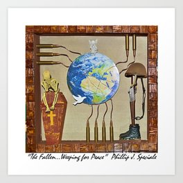 """""""The Fallen.....Weeping for Peace"""" Art Print"""