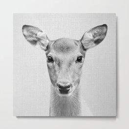 Doe 2 - Black & White Metal Print