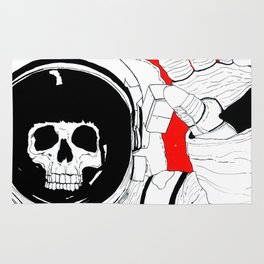 Skull Astronaut Rug