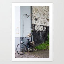 Blue Bicycle, Bruges Art Print