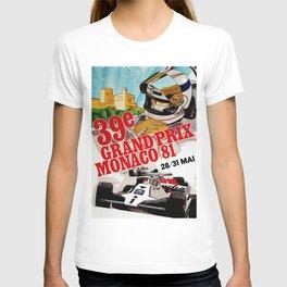 Gran Prix de Monaco, 1981, original vintage poster T-shirt