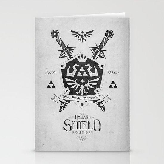 Legend of Zelda Hylian Shield Foundry logo Iconic Geek Line Artly Stationery Cards