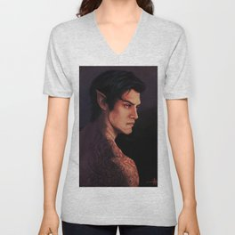 Rhysand Rhys Court of Thorns and Roses portrait Unisex V-Neck