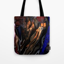 Mannequins with Blue Tarp Tote Bag