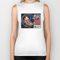dwight schrute Biker Tanks featuring Dwight Schrute  |  Beet Cola Advertisement by Silvio Ledbetter