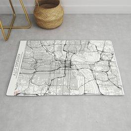 Kansas City Map White Rug