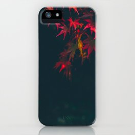 Sensual Red Japanese Maple iPhone Case