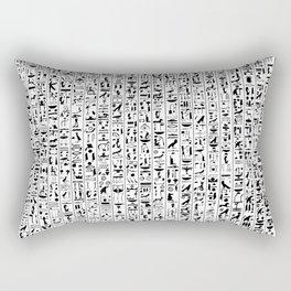 Hieroglyphics B&W / Ancient Egyptian hieroglyphics pattern Rectangular Pillow