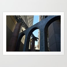 Overlapping Architecture Textures Art Print