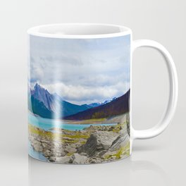 Medicine Lake in the Maligne Valley of Jasper National Park, Canada Coffee Mug