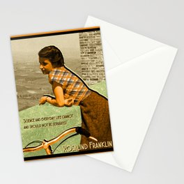 Science Quote Rosalind Franklin Stationery Cards