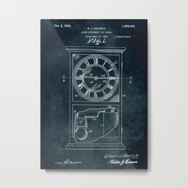 1926 Alarm Attachment for clocks Metal Print