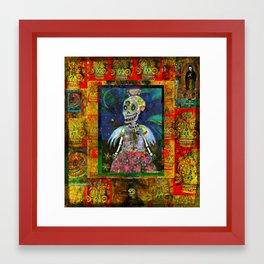 Goth Girl Angel Framed Art Print