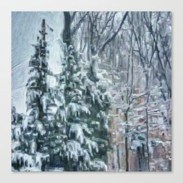 March Snow Canvas Print