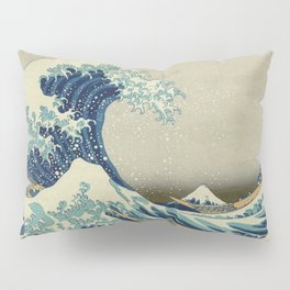 The Classic Japanese Great Wave off Kanagawa Print by Hokusai Pillow Sham
