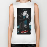 dwight schrute Biker Tanks featuring Sin City-Dwight by Szoki