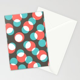 disco dancing dots no1 Stationery Cards