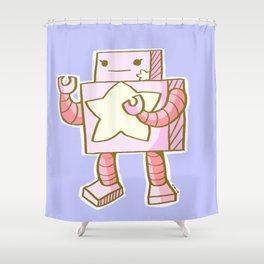 Kawaii Robot Shower Curtain
