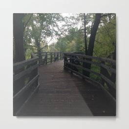 The Bridge in the Forest Metal Print
