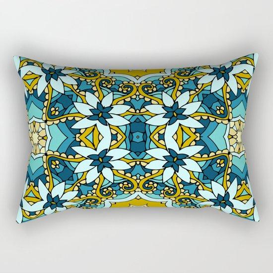 Floral mosaic Rectangular Pillow
