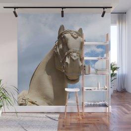 Stone Horse Head 1 Wall Mural