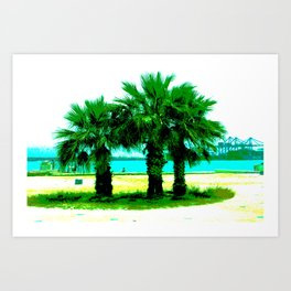 Tropical Tree Trio Art Print