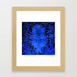 Surprise in Blue Framed Art Print